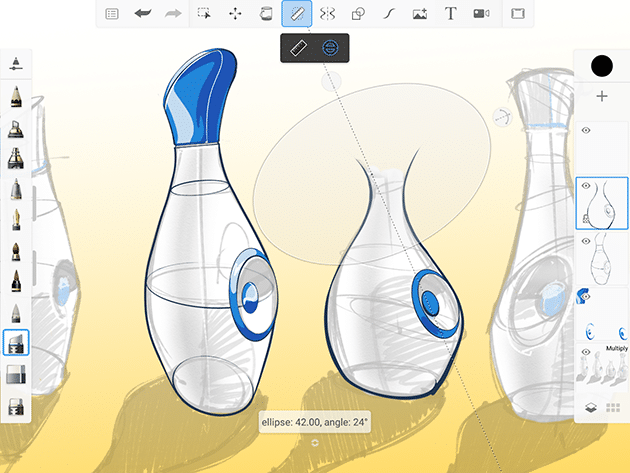تحميل سكيتش بوك SketchBook 2021 مهكر [كل شيء مفتوح] اخر اصدار للاندرويد